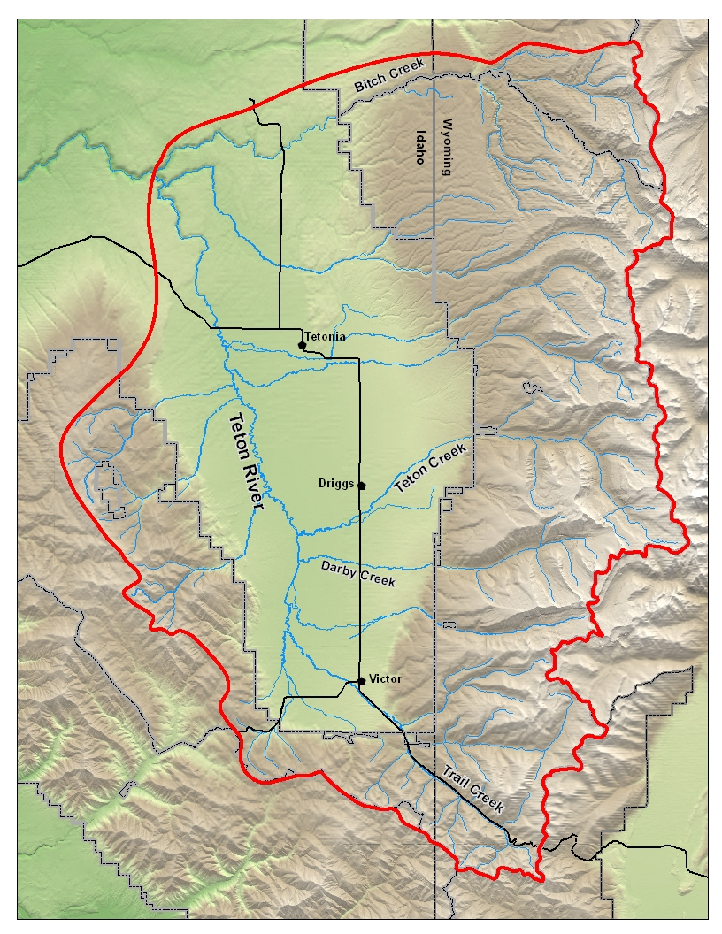 Watershed Map Placeholder Will Need Updating Friends Of The Teton