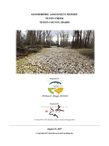 Teton Creek Geomorphic Report